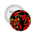 Red artistic design 2.25  Buttons Front