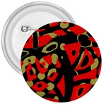 Red artistic design 3  Buttons Front