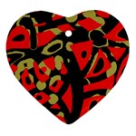 Red artistic design Ornament (Heart)  Front