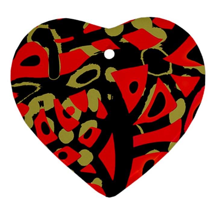 Red artistic design Ornament (Heart)
