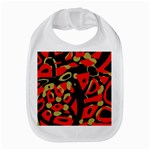 Red artistic design Bib Front