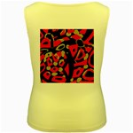 Red artistic design Women s Yellow Tank Top Back