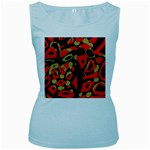 Red artistic design Women s Baby Blue Tank Top Front