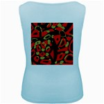 Red artistic design Women s Baby Blue Tank Top Back