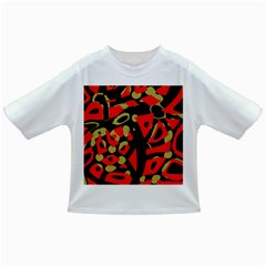 Red artistic design Infant/Toddler T-Shirts