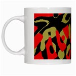 Red artistic design White Mugs Left