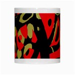 Red artistic design White Mugs Center