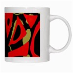 Red artistic design White Mugs Right