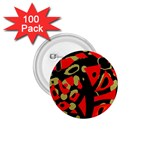 Red artistic design 1.75  Buttons (100 pack)  Front