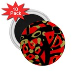 Red artistic design 2.25  Magnets (10 pack)  Front