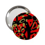 Red artistic design 2.25  Handbag Mirrors Front