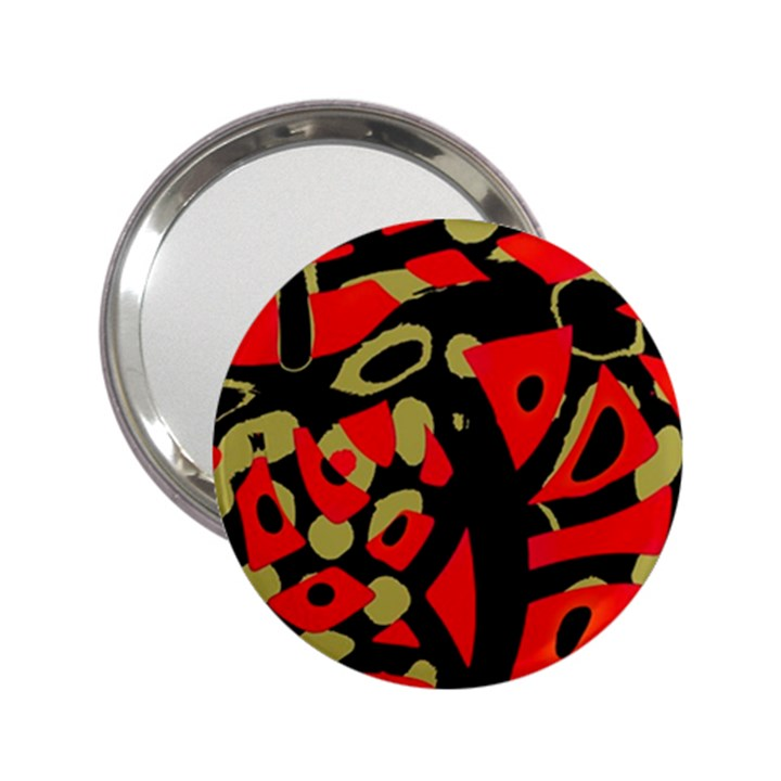 Red artistic design 2.25  Handbag Mirrors