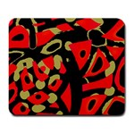 Red artistic design Large Mousepads Front