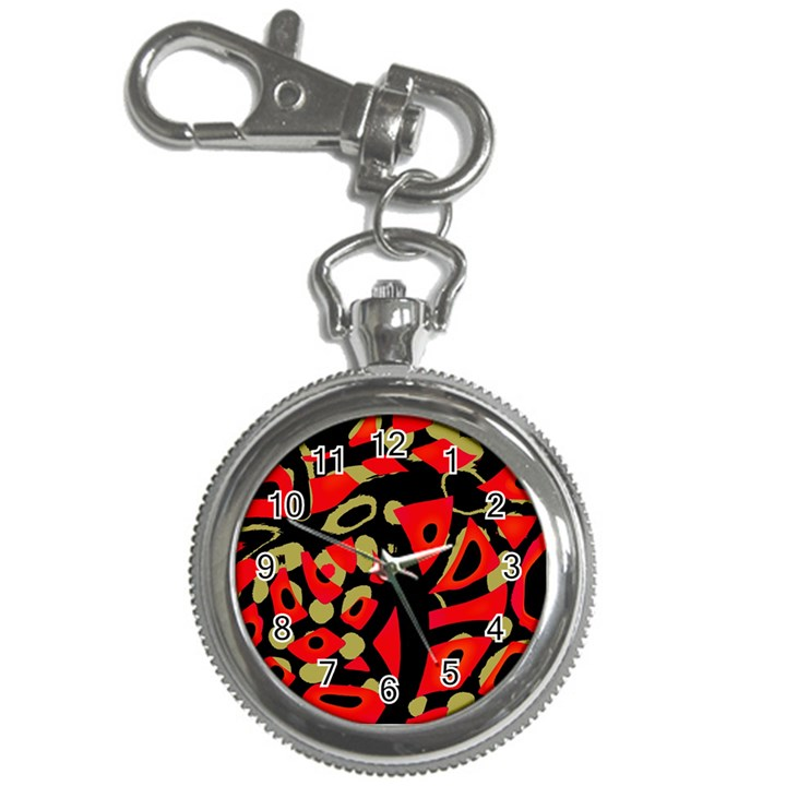 Red artistic design Key Chain Watches