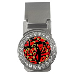 Red artistic design Money Clips (CZ)