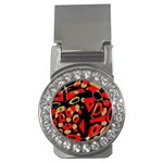 Red artistic design Money Clips (CZ)  Front