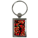 Red artistic design Key Chains (Rectangle)  Front