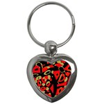 Red artistic design Key Chains (Heart)  Front