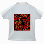 Red artistic design Kids White T-Shirts Back