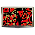 Red artistic design Cigarette Money Cases Front