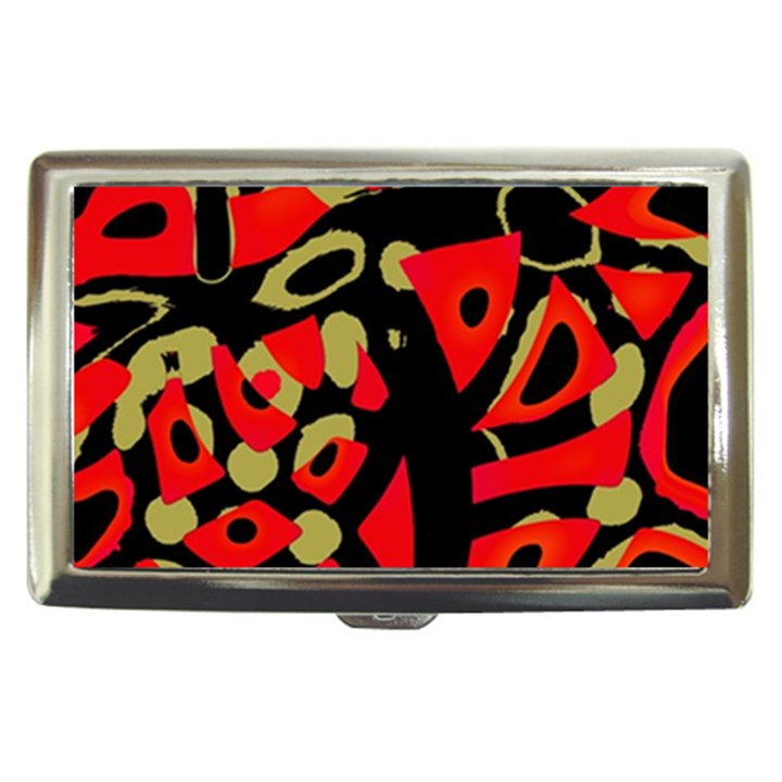 Red artistic design Cigarette Money Cases