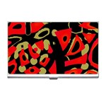 Red artistic design Business Card Holders Front