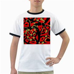 Red artistic design Ringer T-Shirts
