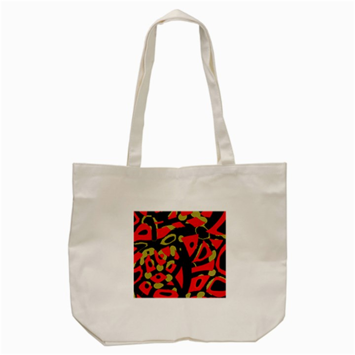 Red artistic design Tote Bag (Cream)