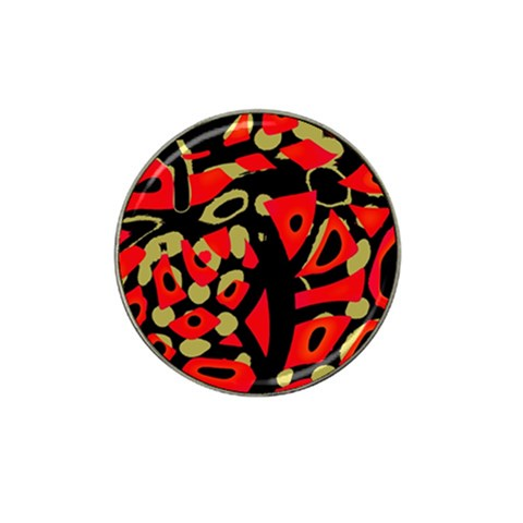 Red artistic design Hat Clip Ball Marker (10 pack)