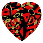 Red artistic design Jigsaw Puzzle (Heart) Front