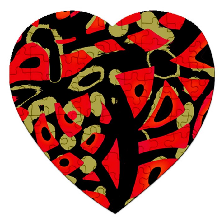Red artistic design Jigsaw Puzzle (Heart)