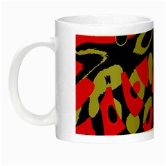 Red artistic design Night Luminous Mugs