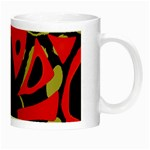 Red artistic design Night Luminous Mugs Right