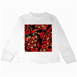Red artistic design Kids Long Sleeve T-Shirts Front