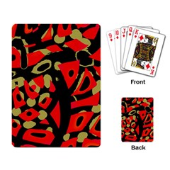 Red artistic design Playing Card