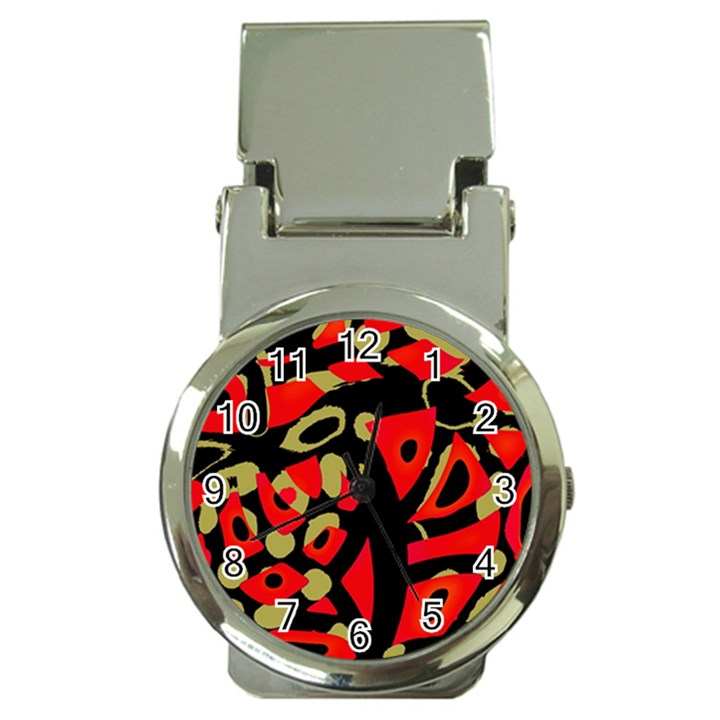 Red artistic design Money Clip Watches