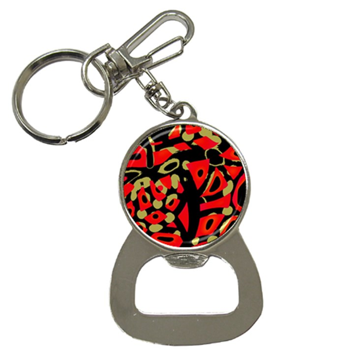 Red artistic design Bottle Opener Key Chains