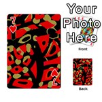 Red artistic design Playing Cards 54 Designs  Front - Heart7
