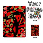 Red artistic design Playing Cards 54 Designs  Front - Heart10