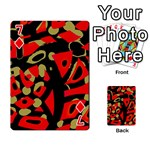 Red artistic design Playing Cards 54 Designs  Front - Diamond7