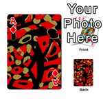 Red artistic design Playing Cards 54 Designs  Front - DiamondA
