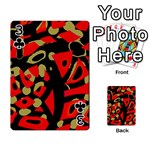 Red artistic design Playing Cards 54 Designs  Front - Club3