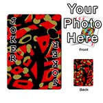 Red artistic design Playing Cards 54 Designs  Front - Joker1