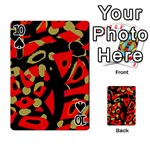 Red artistic design Playing Cards 54 Designs  Front - Spade10