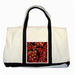 Red artistic design Two Tone Tote Bag Front
