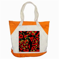 Red artistic design Accent Tote Bag