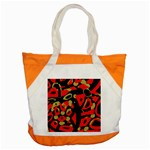Red artistic design Accent Tote Bag Front