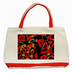 Red artistic design Classic Tote Bag (Red) Front