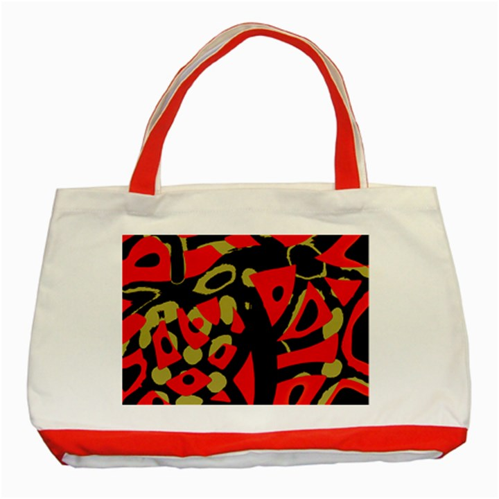 Red artistic design Classic Tote Bag (Red)