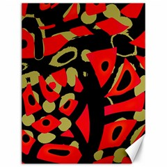 Red artistic design Canvas 12  x 16